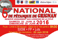 NATIONAL de Pétanque GRIGNAN 2016